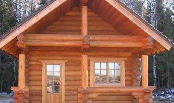 Сруб деревянной бани 5 на 6м