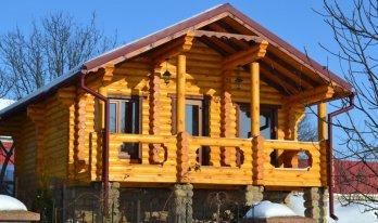 Проект сруба одноэтажного дома 5,5 на 8,8м